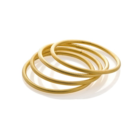 18K yellow gold bracelets