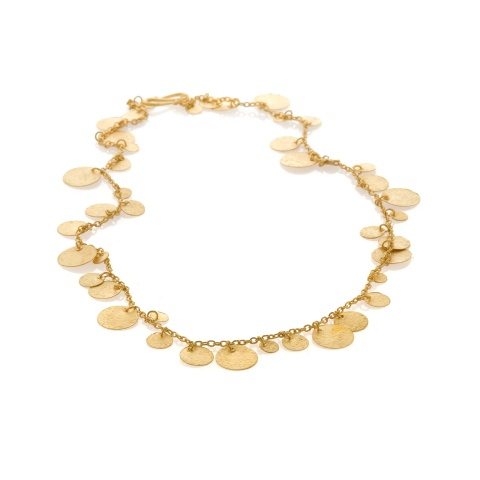 18K yellow gold necklace, mat finish