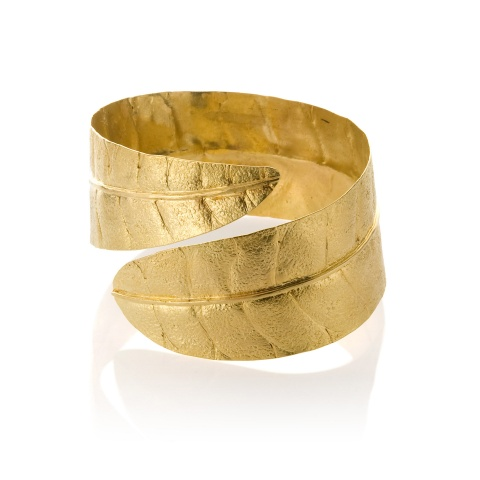 18K yellow gold cuff