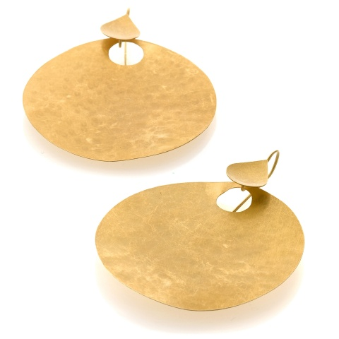 18K yellow gold ear pendants