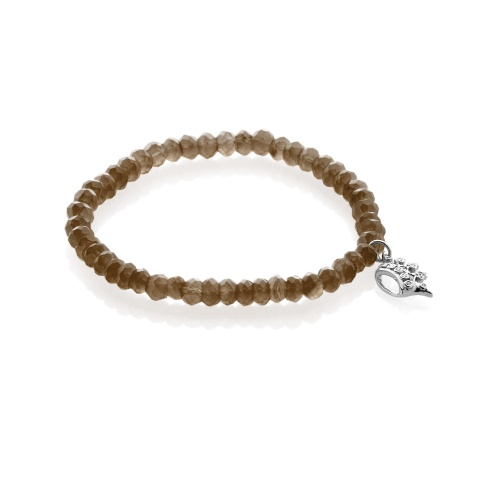 smoky quartz-stretch-bracelet