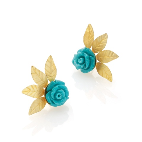 18K yellow gold ear studs