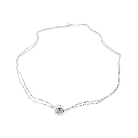 Collier or blanc 18 ct
