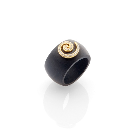 black ebony fingerring