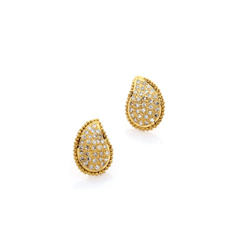 18K yellow gold Paisley-ear studs