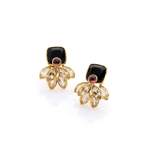 18K yellow gold earstuds
