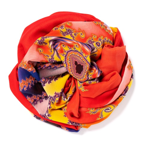 Tomato-red colored Pashmina