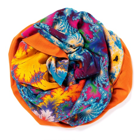 Orange colored Pashmina