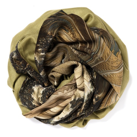 Olive colored Pashmina
