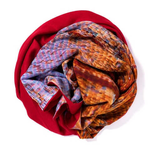 Dark red Pashmina