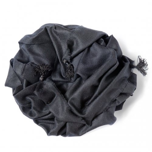 Black Pashmina  with a black tassels on the width