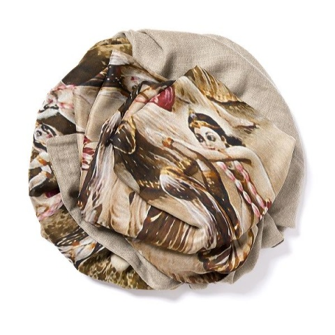 Dark natural Pashmina