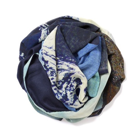 Dark navy blue Pashmina